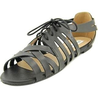 Steve Madden Epiic Women Open Toe Synthetic Black Gladiator Sandal