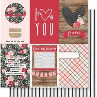 "Kissing Booth Double-Sided Cardstock 12""X12""-4""X6"" Vertical Elements"