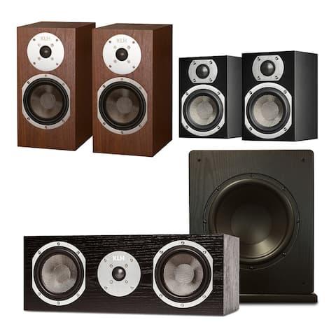 """KLH Albany 5.1 Speaker System with Windsor 10"""" Subwoofer"""