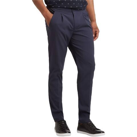 Kenneth Cole Mens Slim Fit Seersucker Dress Pants Slacks