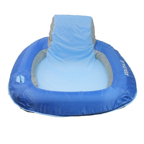 "39"" Inflatable Sky Blue Floating Swimming Pool Chair - N/A"