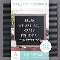 """Gray Stained W/Black Insert - Dcwv Framed Letterboard 16""""X16"""""""