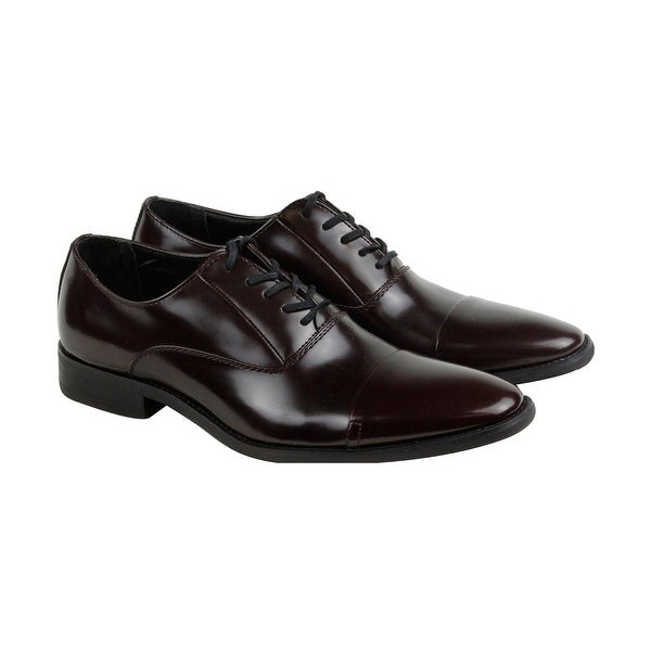 Calvin Klein Radley Brush Smooth Mens Red Casual Dress Shoes