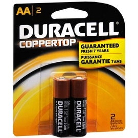 Duracell Coppertop AA Alkaline Batteries 1.5 Volt 2 Each