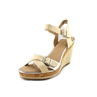 Alfani Payton Open Toe Synthetic Wedge Heel