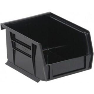 Quantum Storage Black Conductive ESD Plastic Storage Bins - 5 x 4.1