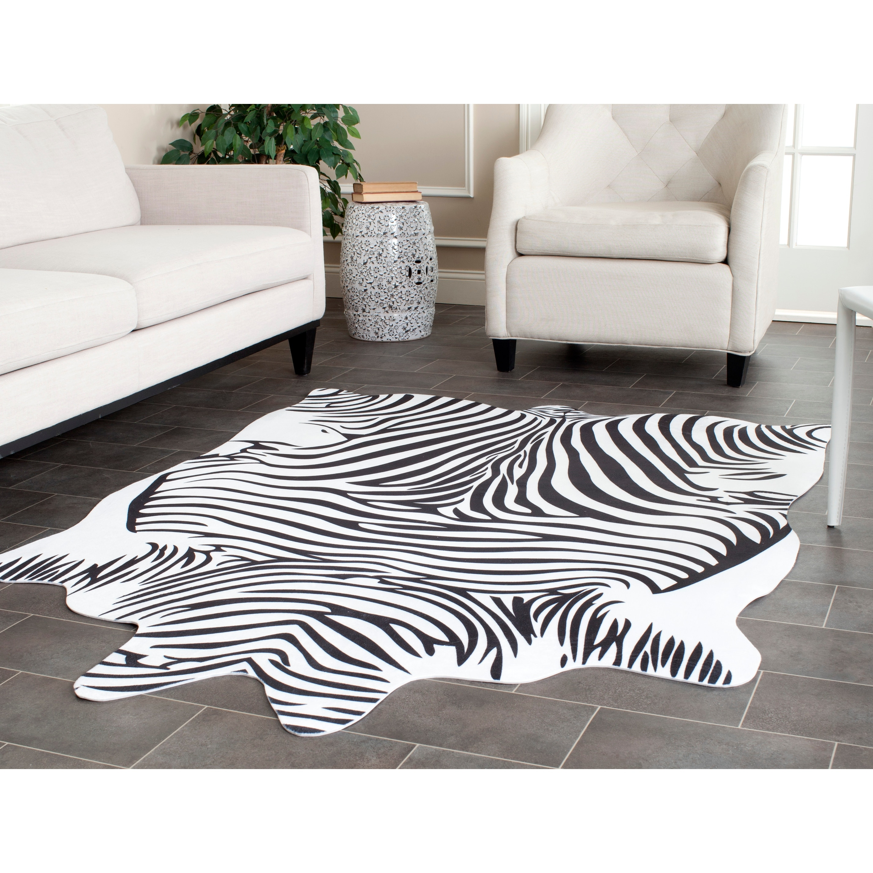 Safavieh Faux Zebra Black White