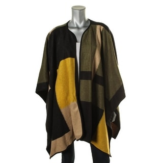 Vince Camuto Womens Wool Blend Blanket Poncho - m/l