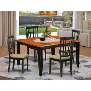Link to Rubberwood Dining Table and 4 Kitchen Chairs in Black and Cherry (Pack of 5) Similar Items in Dining Room & Bar Furniture