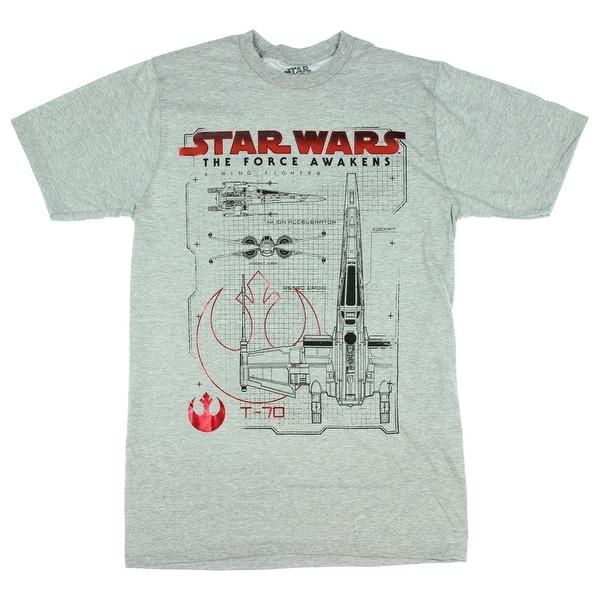 Star Wars: The Force Awakens T-70 X-Wing Schematics T-Shirt on