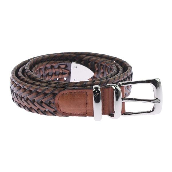 Perry Ellis Portfolio Mens Casual Belt Bonded Leather Braided - 44