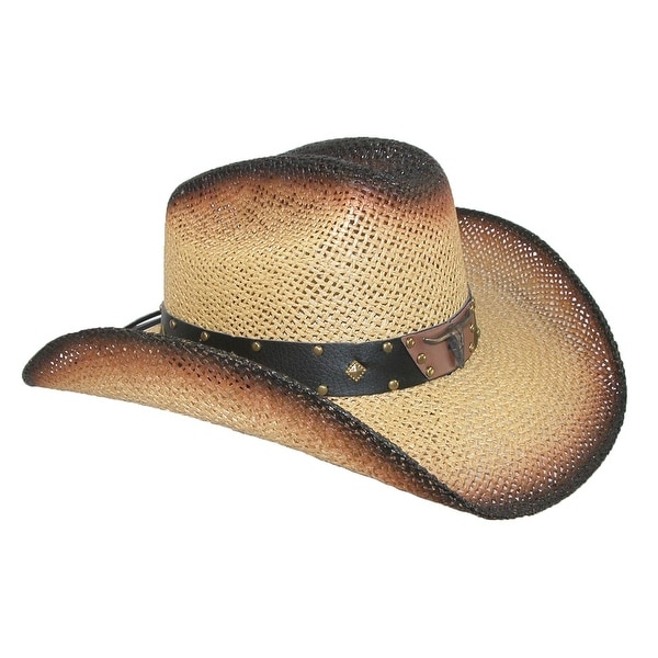 0b8a1132fb0b0 Shop Wild Bill Hats Men s Straw Long Horn Western Cowboy Hat - Free  Shipping On Orders Over  45 - Overstock - 14281742
