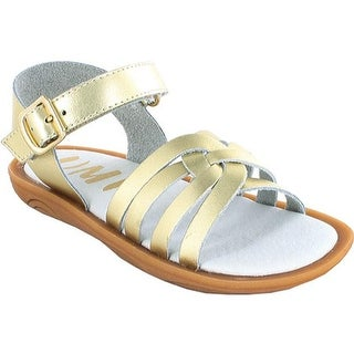 Umi Girls' Cora Sandal Gold Leather