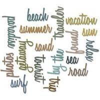 Vacation Words Script - Sizzix Thinlits Dies 18/Pkg By Tim Holtz