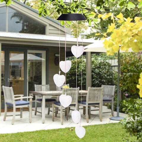 Solar Intelligent Light Control Love Style Wind Chime String Light