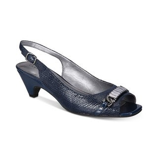 Karen Scott Womens Anyaa Patent Square Toe Slingback Heels