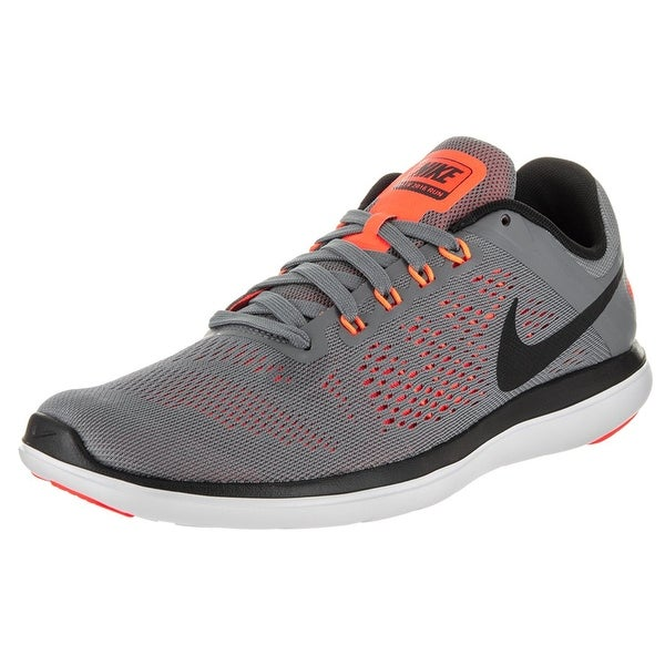 09707c33655 Shop Nike Men s Flex 2016 Rn Cool Grey Black Black White Running ...