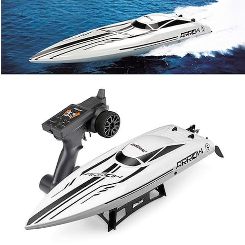 """UDI005 High Speed Brushless RC Racing Boat Electronic Remote Control Boat White - 24.92"""" x 6.69"""" x 4.33"""""""
