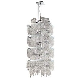 Eurofase Lighting 30007 Rossi 36 Light LED 4 Tier Chandelier with Crystal Accents