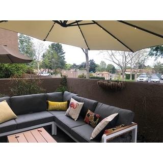 BroyerK 4-piece Outdoor Aluminum Woven Ropes Patio Furniture Set