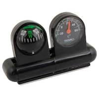 Unique Bargains Vehicles Car Altimeter Barometer Stand Compass Round Thermometer Black