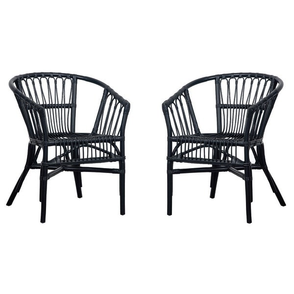 "Safavieh Adriana Rattan Accent Chairs (Set of 2) - 22.8"" W x 23.6"" L x 30.3"" H. Opens flyout."