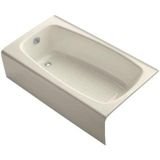 "Kohler K-745 Seaforth Collection 54"" Three Wall Alcove Seaforth Bath Tub with Left Hand Drain"