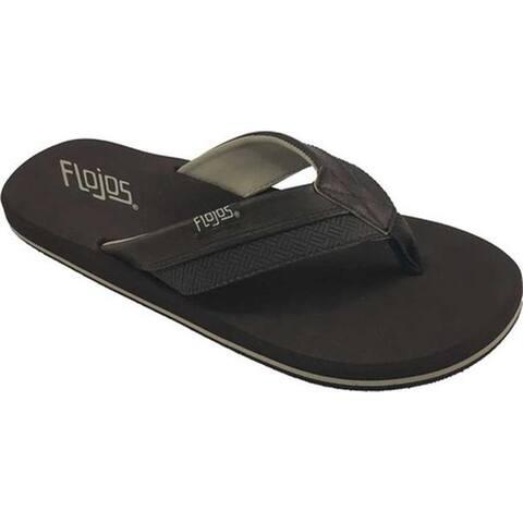 Flojos Men's Ryan Flip Flop Tan Synthetic