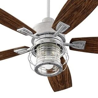 "Quorum International 13525 Galveston 52"" 5 Blade Hanging Indoor / Outdoor Ceiling Fan with Reversible Motor and Blades"