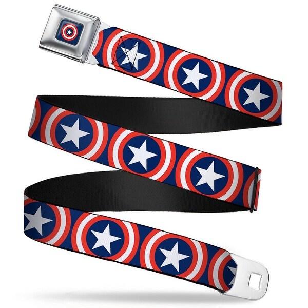 Marvel Universe Captain America Shield Full Color Navy Captain America Seatbelt Belt