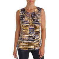Kasper Womens Tank Top Printed Sleeveless