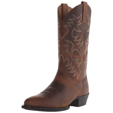 Ariat Mens Ariat Heritage Leather Almond Toe Knee High Western Boots - 10.5