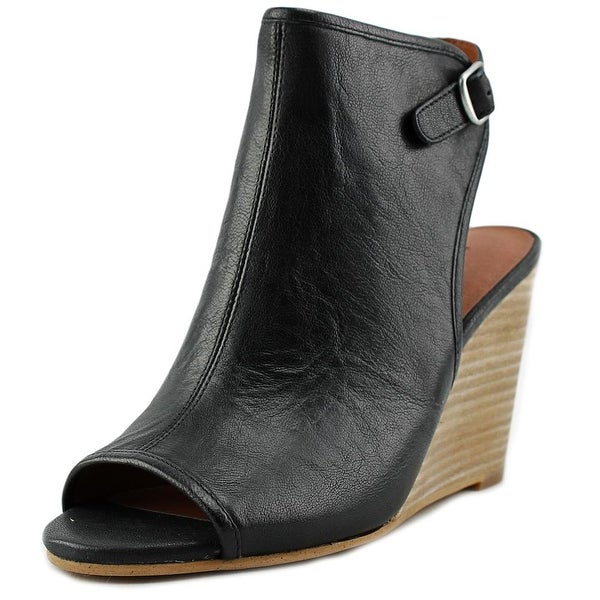 Lucky Brand Risza Women Open Toe Leather Wedge Heel