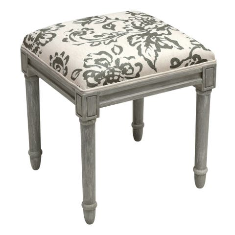 Toile Rustic-grey Vanity Stool