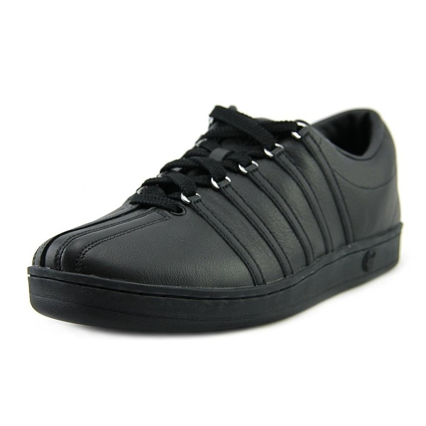 K-Swiss Classic 88 Men Round Toe Leather Black Fashion Sneakers