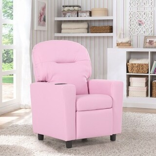 Flash Furniture Contemporary White Vinyl Kids Recliner