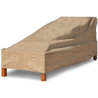 "Budge P2A02SF1-N Chaise Lounge Cover, Polyethylene, 80"" x 27"" x 30"""