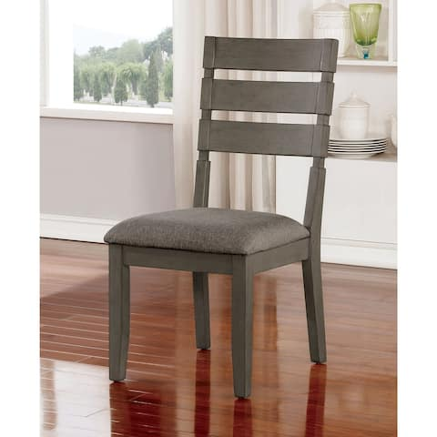 The Gray Barn Park House Transitional Grey Side Chairs (Set of 2)