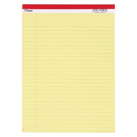 Mead legal pad 8.5x11.75 50 ct canary 59610