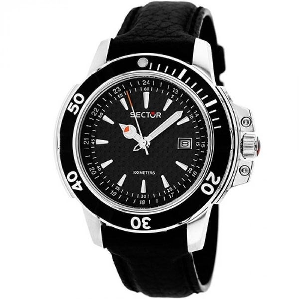 Sector Men's 3251240125 'Series 240' Black Leather Watch. Opens flyout.