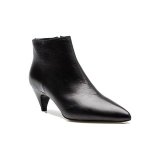 Prada Women's Leather Heeled Ankle Boot Black Shoes - 7.5