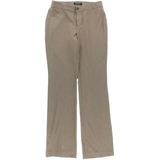 Lauren Ralph Lauren Womens Petites Dress Pants Solid Flare Leg