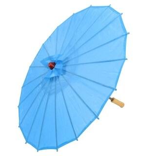 Chinese Asian Oriental Japanese Stage Dancing Umbrella Parasol 22 Dia Blue