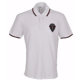New Gucci Men's 345394 White SLIM Fit Hysteria Crest Web Trim Polo Shirt XXXL