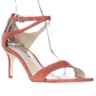 Via Spiga Leesa Ankle Strap Dress Sandals, Coral Dot