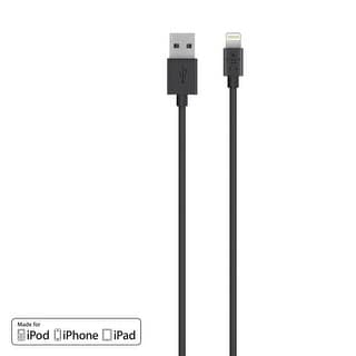 Belkin Lightning 4ft Charge & Sync Cable for iPhone 8, iPhone 7/6/6S - Black