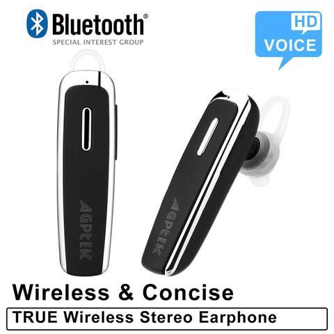 AGPtek Y8 Single Ear Bluetooth Headset Black - L