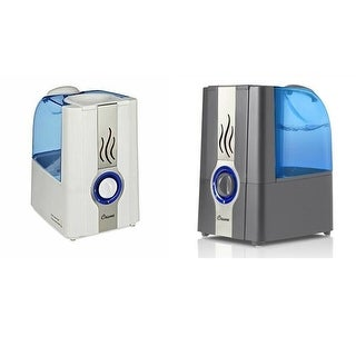 CRANE Warm Mist Humidifier Clean Control, 1 gallon, Grey or White