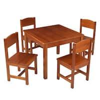 KidKraft: Farmhouse Table & 4 Chairs - Pecan