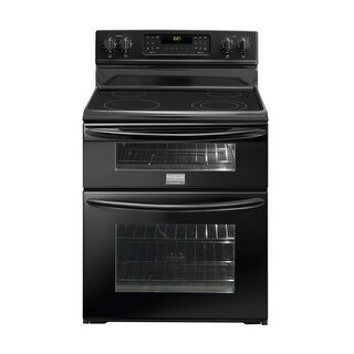 Frigidaire FGEF300DNB 30 Inch Wide Freestanding Electric Range with 6.64 Total Cu. Ft. Double Ovens - Black